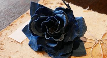 藍染展コサージュ